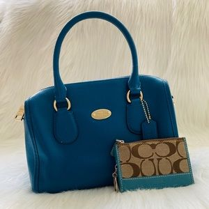 coach mini bennett satchel and card wallet